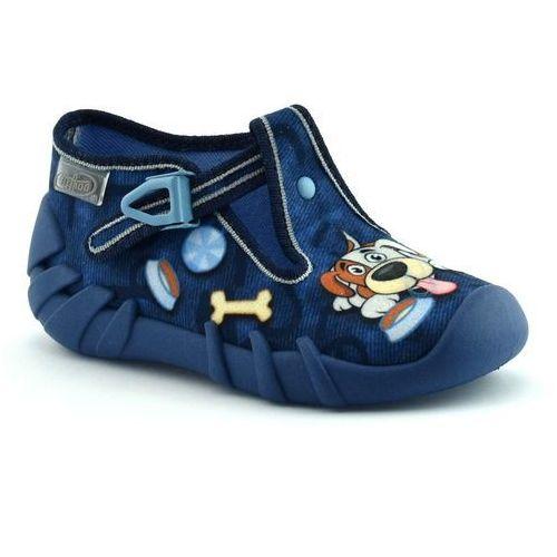 Kapcie dla dzieci Befado 110P322 Speedy - Granatowy, kolor niebieski