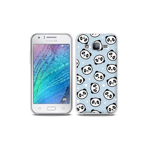 Samsung galaxy j5 - etui na telefon full body slim fantastic - panda na niebieskim tle marki Etuo full body slim fantastic