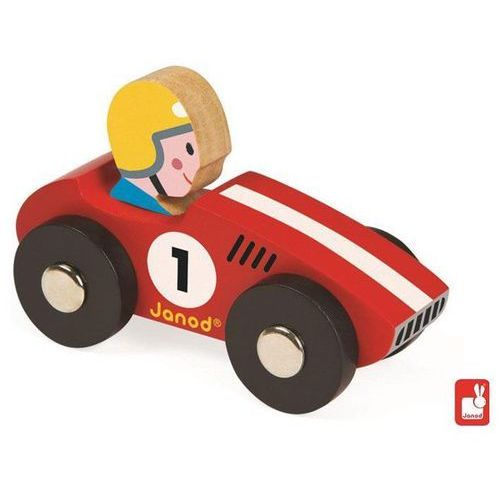 JANOD Wyścigówka drewniana Racer czerwony - Wyścigówka drewniana Racer czerwony