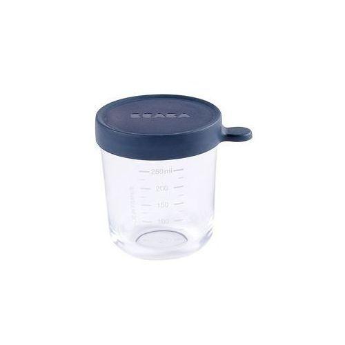 Pojemnik s�oiczek szklany z hermetycznym zamkni�ciem 250 ml Beaba (dark blue)