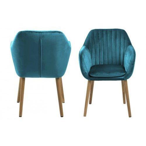 Krzesło emilia velvet butelkowa zieleń marki D2