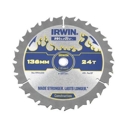 Irwin weldtec Tarcza do pilarki tarczowej 136 mm/24t c/10