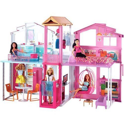 Mattel Barbie duży domek miejski 3 poziomy willa dly32