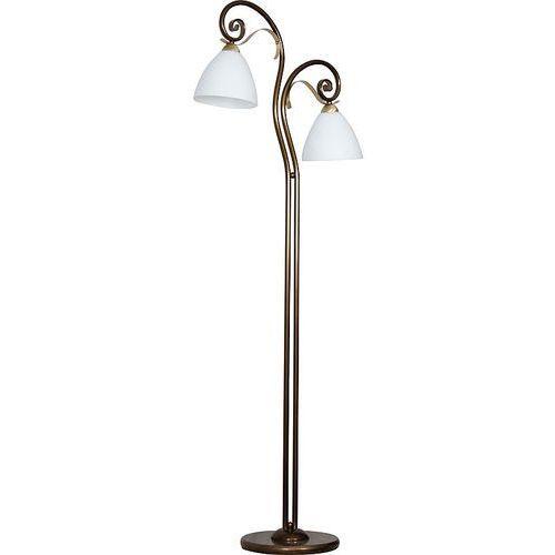 Lampa podłogowa stojąca oprawa lima 2x60w e27 złoty/biały/miedź 0423 marki Luminex