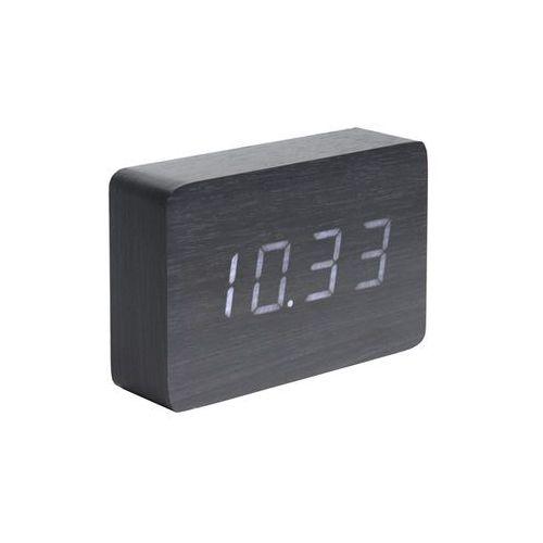 Zegar stołowy, budzik Square black, LED by Karlsson, KA5653BK