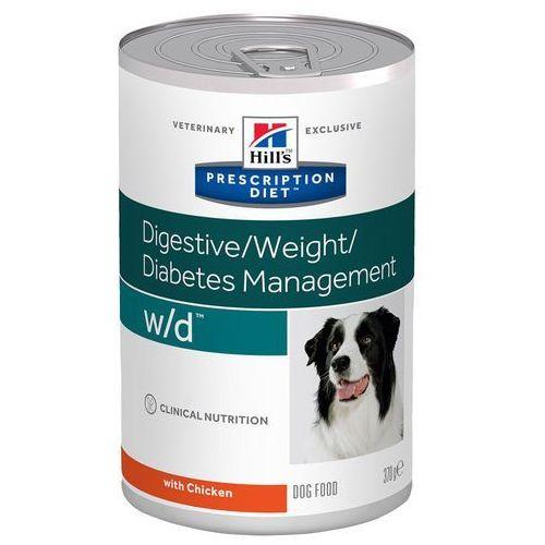 Hills prescription diet w/d digestive/weight/diabetes management, kurczak - 24 x 370 g  wygraj iphona xs - tylko w tym tygodniu   dostawa gratis od 89 zł