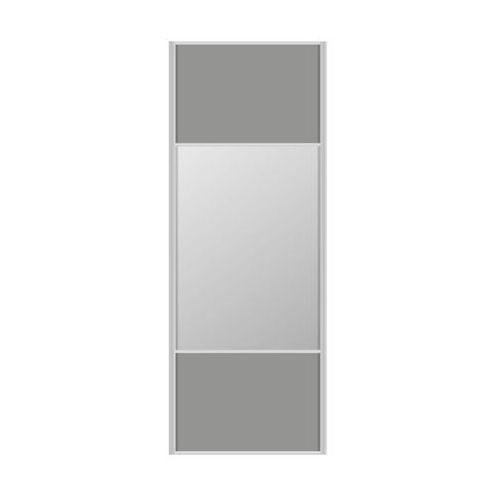 Spaceo Drzwi przesuwne do szafy szare/lustro 67 cm