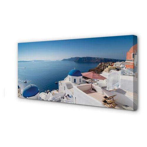 Tulup.pl Obrazy na płótnie grecja morze budynki panorama