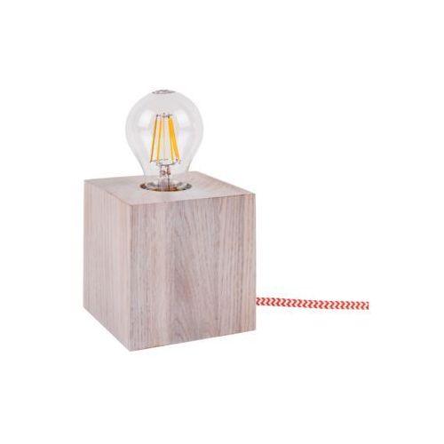 Lampa stołowa Spot Light Trongo 1x60W E27 dąb biały/czerwono-biały 7171532