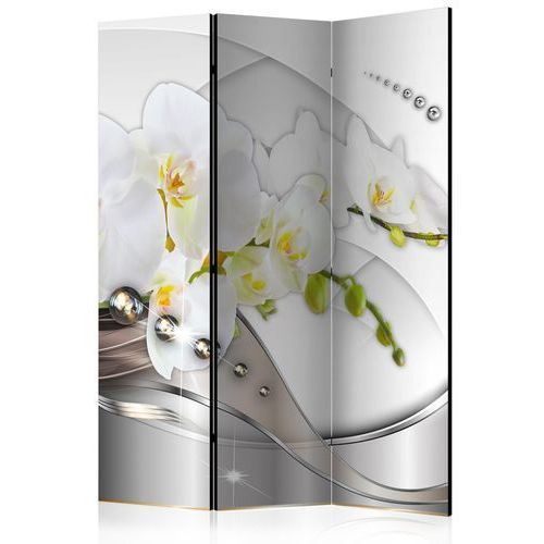 Artgeist Parawan 3-częściowy - perłowy taniec orchidei [room dividers]