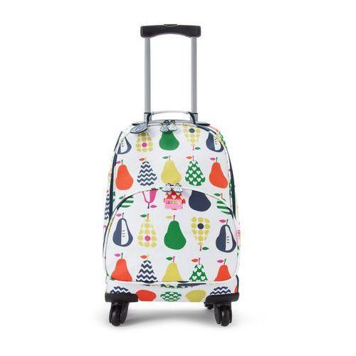 Penny Scallan Design, walizka na czterech kółkach, biało-granatowa w gruszki z kategorii walizeczki