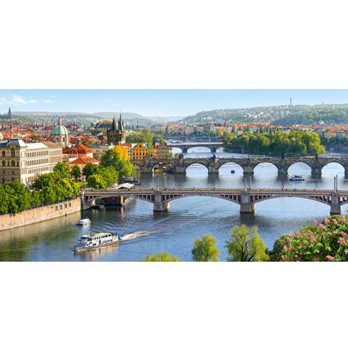 Puzzle 4000 vltava bridges in prague castor marki Castorland