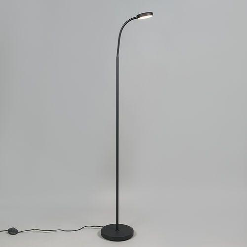 Lampa podłogowa trax czarna marki Qazqa