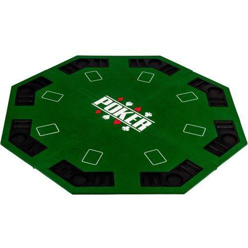 Makstor.pl Zielony blat stół do pokera 122x122cm poker kasyno - zielony
