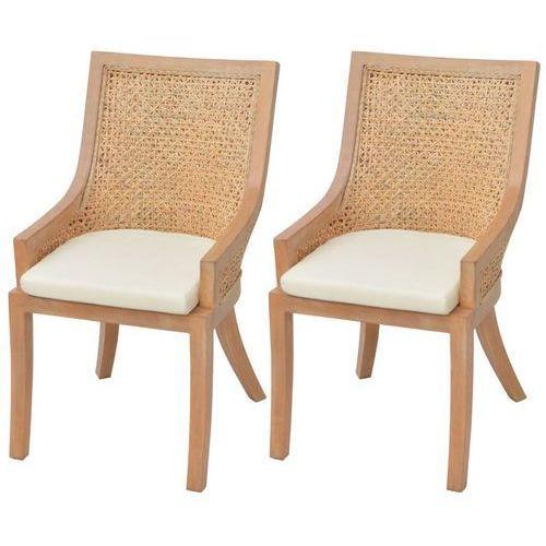 Krzesła do jadalni, rattanowe, 2 szt. marki Vidaxl