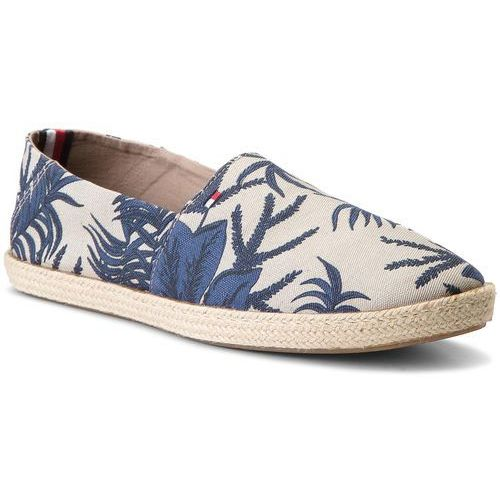 Espadryle TOMMY HILFIGER - Easy Summer Print Slip On FM0FM01814 Tropical Leaf Print 901, w 7 rozmiarach