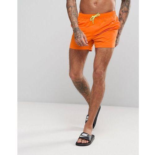 ASOS Festival Swim Shorts In Orange With Contrast Drawcord Short Length - Orange