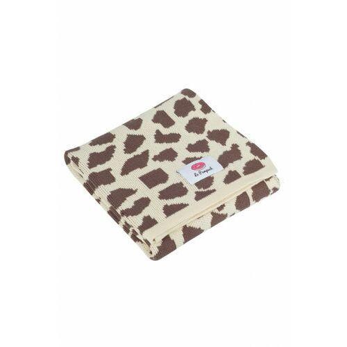 Kocyk bawełniany 100x80cm żyrafa 6o38cp marki Le pampuch