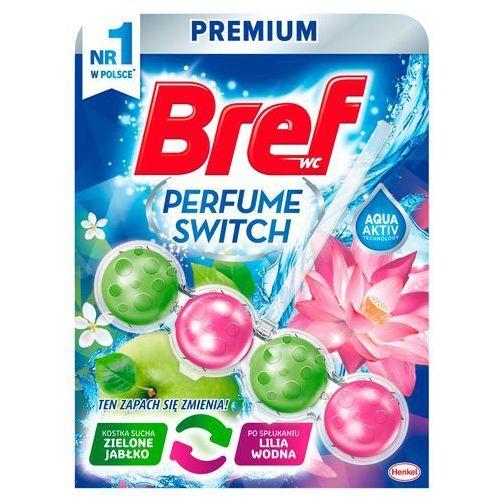 Bref wc perfume switch zawieszka do muszli wc zielone jabłko-lilia wodna 50 g (9000101329384)