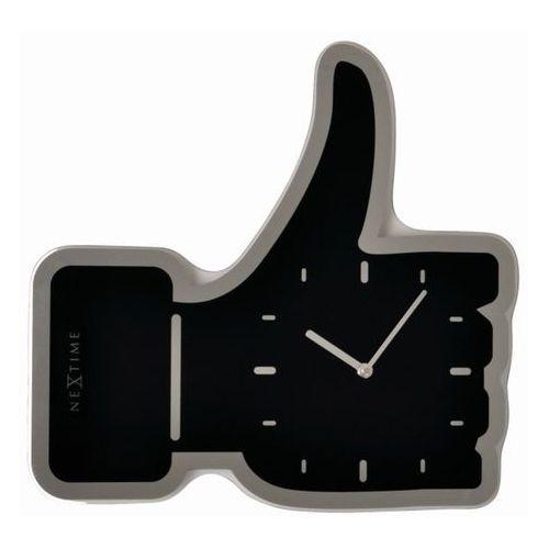 - zegar ścienny thumbs up 41 cm - czarny marki Nextime
