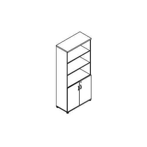Regał częściowo zamknięty H54 wymiary: 80,2x38,5x183,3 cm