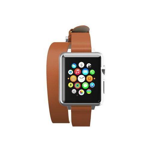 reese double wrap - skórzany pasek do apple watch 38mm (tan) marki Incipio