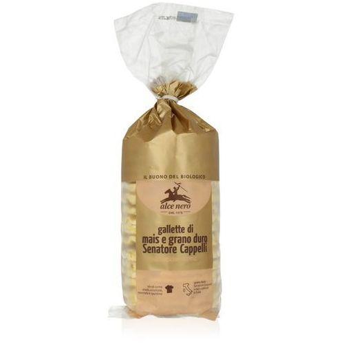 Alce nero (włoskie produkty) Wafle kukurydziane z pszenicą durum senatore cappelli bio 100 g - alce nero