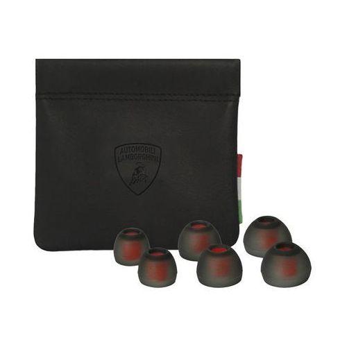 Lamborghini Huracan D8 - Słuchawki dokanałowe z mikrofonem (czerwony)