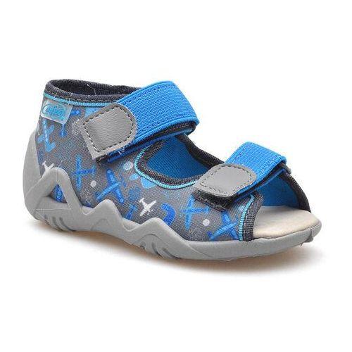 Sandały dziecięce Befado 350P007 Szare/Niebieskie