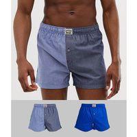 Levi's 2 pack split woven boxers in blue - blue