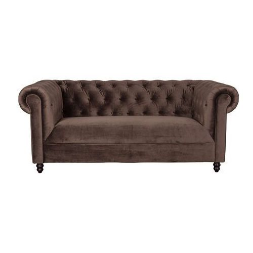 Dutchbone Sofa CHESTER VELVET ciemny brąz 3200135 (8718548036369)