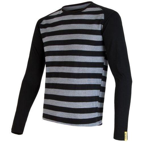 Sensor bluzka merino wool active m black stripes xl