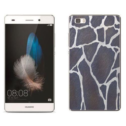 Huawei P8 Lite - etui na telefon - Kolekcja kamień - szary kamień - D25, kolor szary