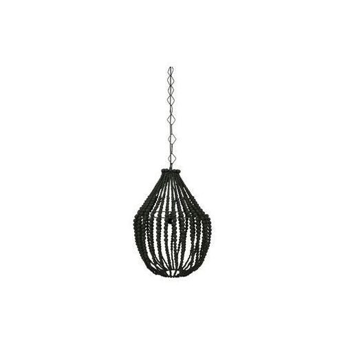 Be Pure Lampa wisząca duża żyrandol z drewnianych koralików czarna 800551-Z, 800551-Z