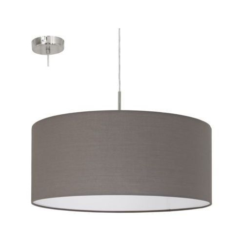 Lampa wisząca pasteri 31578 z abażurem 1x60w e27 antracyt/brąz marki Eglo