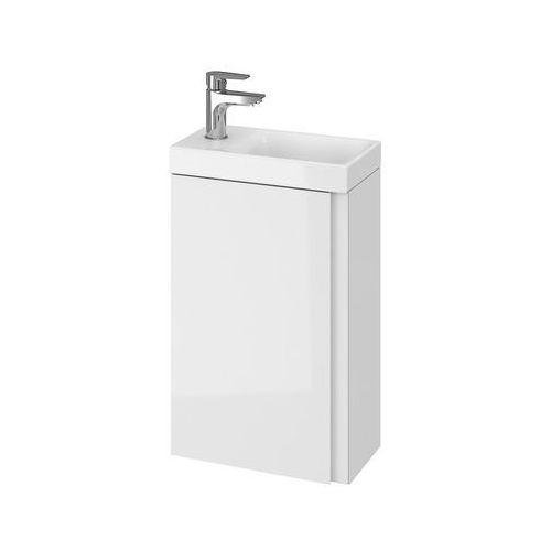set szafka moduo biały połysk + umywalka moduo 40 s801-218 marki Cersanit