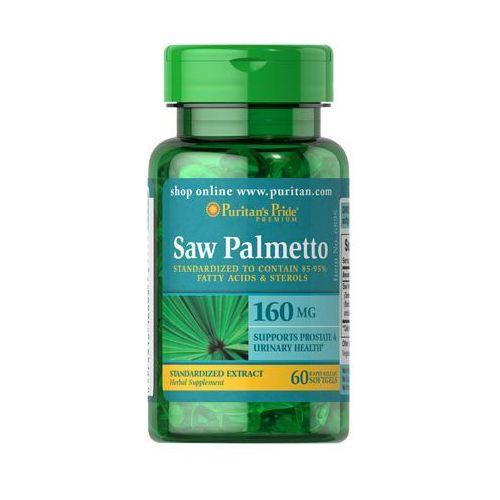 Puritan's pride, usa Puritan's pride saw palmetto ekstrakt 160mg 60 kaps., kategoria: potencja - erekcja