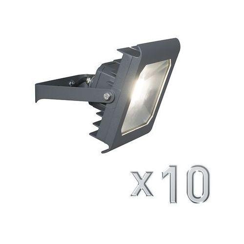 Led naswietlacz radius 2 30w ciemno szary 4000k zestaw 10 sztuk marki Qazqa