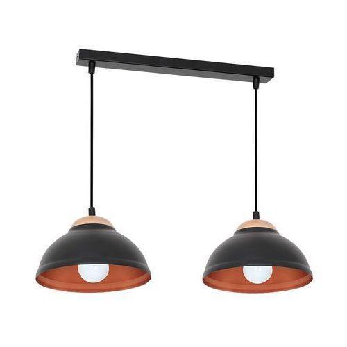 Lampa wisząca Luminex Arne 7396 lampa sufitowa 2x60W E27 czarny / miedziany
