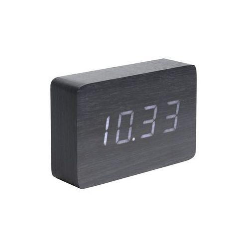 Zegar stołowy, budzik Square black, LED by Karlsson