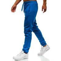 Spodnie męskie dresowe joggery niebieskie Denley XW01, dresowe