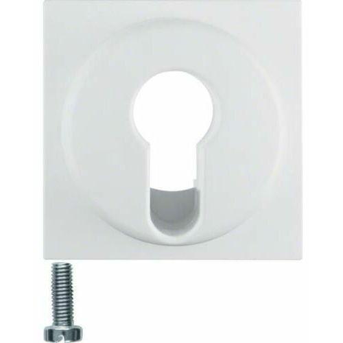 BERKER Q.1 Płytka czołowa do łącznika na klucz, biały, aksamit 15076089