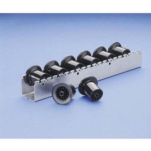 Bito-lagertechnik Ciężka listwa toczna z rolkami prowadzącymi z tworzywa o Ø 46 mm, podział rolek