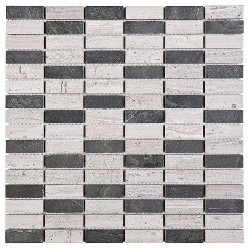 Mozaika Woodstone Grey Block Mix 48 30,5x30,5 Dunin