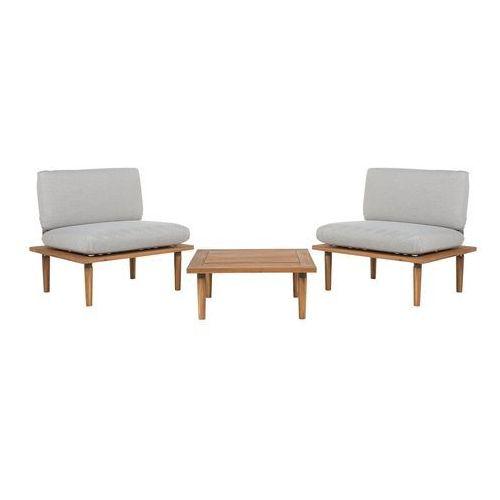 Beliani Zestaw mebli ogrodowych 2 częściowy drewno akacjowe jasnoszary frascati (4251682203296)