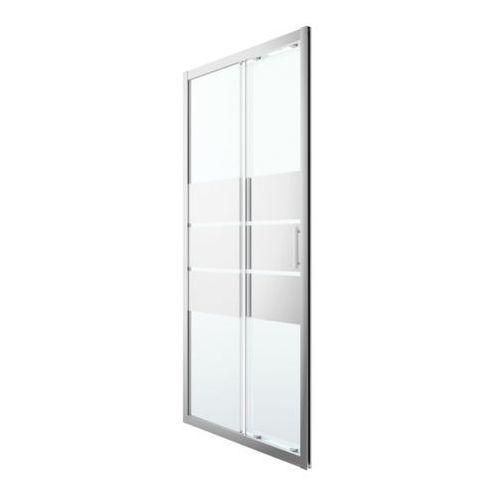 Cooke&lewis Drzwi prysznicowe przesuwne beloya 100 cm chrom/szkło lustrzane (3663602945048)
