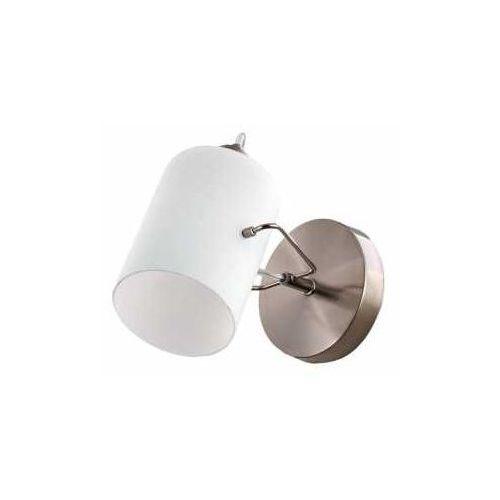 Lampex Orest 827/K kinkiet lampa ścienna 1x60W E14 biały / nikiel