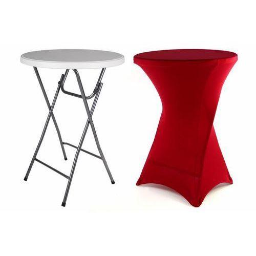 stół składany, stół bistro wraz z elastycznym pokrowcem 80 x 80 x 110 cm