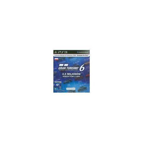 Karta SONY Gran Turismo 6 - 2.5 milionów kredytów z gry