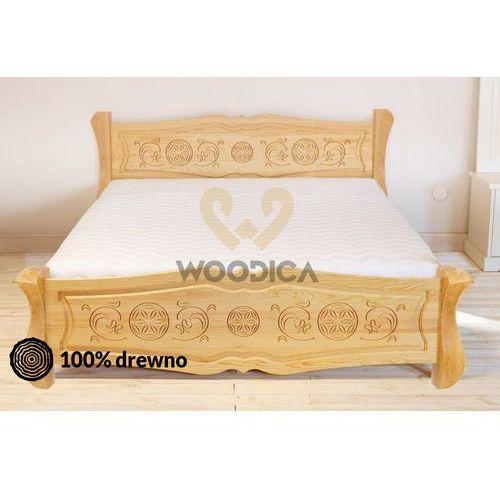 33. łóżko góralskie ii ozdobne 140x200 marki Woodica